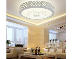XMZ Soffitto moderni lampadari di luce Luce per soggiorno, sala da pranzo,Corridorcircular 42cm- Luce bianca lampada a soffitto luci