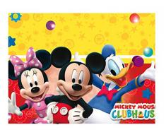 Procos 81511 - Tovaglia Plastica Mickey Mouse Club House (120 x 180 cm), Multicolore