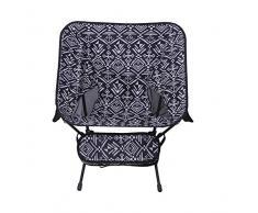 Camping sedia, compatto, leggero, pieghevole con tasche laterali, piedi lunghi, spallacci   zaino, campeggio, parco, coloniale (35.0 cm * 23,0 cm * 48,0 centimetri)
