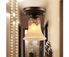 JJ Moderno LED luci a soffitto YL Lampadari Lampade sospese Vintage LED Lampade da soffitto CLASSIC Lodge rustico Vintage Lanterna retrò soggiorno sala da pranzo Camera da letto , bianco caldo-(220V-240V)