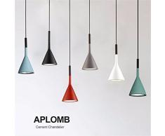 Moderno luci pendente Sala da Pranzo Arte Lampadari Lampade pensili Ristorante Bar Caffetteria Home Lighting ferro resina+E14 titolare,grigio