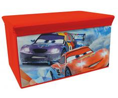 Fun House 712444 - Panca porta oggetti pieghevole, motivo: Cars Ice Racing