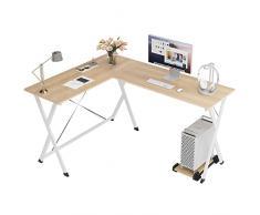 soges Scrivania per Ufficio Computer scrivania angolare Tavolo per Computer, Quercia ZJ1-MO-A
