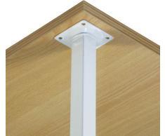IB-Style - Set di 4 gambe del tavolo 800 mm argento   25x25 mm   4 colori   9 lunghezze   gamba tavolo piedi bancone