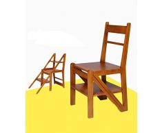 ZENGAI Sedie pieghevoli Legno Massiccio Scaletta Chair Sgabello Legno Semplicità Moderna Sedia Da Pranzo Scala Casa Sedie E Sedie In Stile