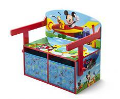 Delta Children TB84912MM - Scrivania convertibile Mickey Mouse con contenitore