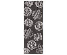 andiamo 291166 Tappeto da Cucina Coffee Shop passatoia Ponte a Pelo Corto Tappeto Oeko Tex 100 Tappeto da Cucina, Poliammide, Antracite, 67 x 250 cm