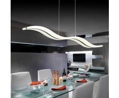 Lampadari,Create For Life® Design moderno ciondolo LED luce plafoniera lampadario appeso lampada per vivere contemporaneo sala da pranzo camera da letto del LED (Bianco freddo)