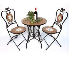 Tavolo a mosaico acquista tavoli a mosaico online su livingo - Tavoli da giardino in ferro battuto e mosaico ...