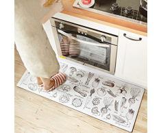 DSJ Tappetini da cucina per tappeti Tappetini anti-scivolo per tappeti da cucina,150 * 45cm * 0,4 centimetri