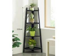 LXLA- 3,4 Strati Fioriera in legno Mensola angolare Angolo vetrina Espositore da interno Salotto aromatico Vaso per fiori Vaso da pavimento (dimensioni : 4-Tier)
