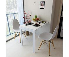 YYH Tavolo Pieghevole a Muro Bianco Space Saver Tavolo Pieghevole Convertibile 90x60x75cm Multifunzione