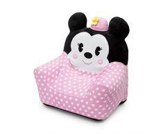 Delta Children Minnie Mouse Sedia Bambino Gonfiabile, Velours, Rosa, 77.50x58.40x80.00 cm