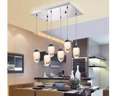 OLQMY-Acrilici moderni minimaliste lampadari, ristorante principale, la sala da pranzo luci, lampada a sospensione,Monotesta