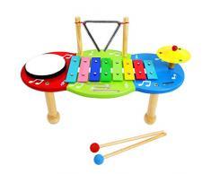Keepdrum - Tavolo musicale per bambini, con campanelle e percussioni