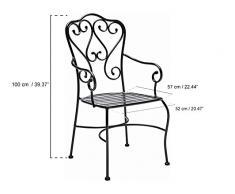 Sedia da giardino in ferro battuto acquista sedie da for Sedie da giardino in ferro battuto
