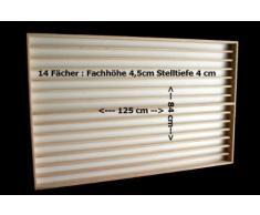 Vetrina (V85) in legno di betulla, con 4 vetri di plexiglas, Dimensioni 125 x 84 x 6 cm, vetrinetta, bacheca, espositore, collezionismo