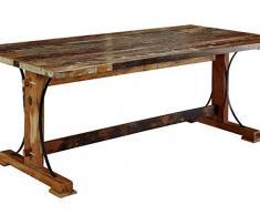 LEGNO ANTICO MASSICCIO Multicolore mobili in legno massello legno Tavolo da pranzo 160X90 LEGNO MASSELLO Mobili massiccio SPIRIT #10