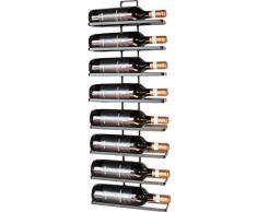 """DanDiBo scaffale per Bottiglie di Vino """"4 Wine, in Metallo, 8 Bottiglie, Colore Nero, per Il Montaggio a Parete, ampliabile"""