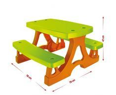 Bambini - Seggiolino da tavolo bambini set tavolo e panca da Picnic per casa giocattolo