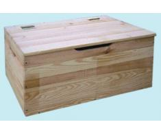 baule in legno tirolese cassapanca 100x40x50