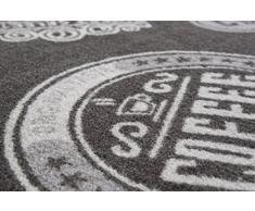 Andiamo 291165 Tappeto da cucina coffee shop passatoia ponte a pelo corto Tappeto Oeko Tex 100 Tappeto da cucina, poliammide, antracite, 67 x 120 cm