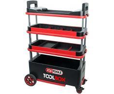 KS Tools 895.0015 ToolBox Carrello utensili/carrello di servizio per officina, richiudibile e bloccabile