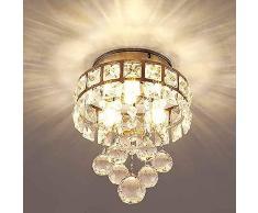 Lampadari moderni cristallo,plafoniera cristalli lampada a sospensione per sala da pranzo bagno camera da letto lampadario cameretta bambini 3 G4 LED Lampadine richiesto,D16cm