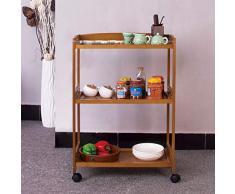 Cucina Sala da Pranzo Rolling Cart,Mobili Pranzo Auto cremagliere Rack di stoccaggio condimenti Cucina della Famiglia Carrello Pieghevole per Il Salone-B