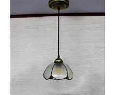 Lampadario europeo a balcone Mediterraneo cafe corridoio corridoio sala da pranzo lampadari in vetro colorato