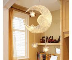 LONFENNER creative luna e stelle bambini Camera da letto soggiorno soffitto con lampada a sospensione lampadario