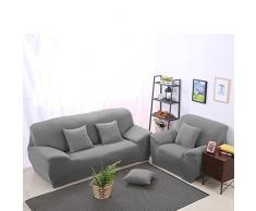 WINOMO Fodera per 3 posti alta elasticità sedia divano copertine copertina Copripoltrona (grigio)