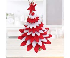 LIOOBO Pendente per Albero di Natale Tessuto in Feltro Stampo per Albero di Natale Decorazione sospesa per vetrina Festa con Campana (Rosso) Decorazione Natalizia