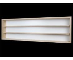 Alsino V110.3 Vetrina espositiva   110 x 30 x 8,5 cm   in legno di betulla non trattato   3 ripiani   2 ante plexiglass scorrevoli   Modellismo   Collezionismo   Scala N e H0