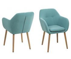 AC Design Furniture Wendy Sedia per Sala da Pranzo, Tessuto, Benzina Brillante 5, 59 x 57 x 83 cm