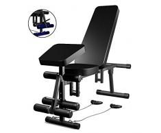Panca con Manubri Casa Sedia Fitness Multifunzionale Sit-up Board Volare, Uccello Bench Press Sedia Sgabello Romana (Color : Black, Size : 125 * 35 * 70cm)