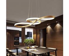 GAOLILI Led post-moderno minimalista sala da pranzo lampadari atmosfera camera da letto luci sala calda creativo sala da pranzo studio lampada da soffitto lampada semplice e moderno LED 32W ( Colore : Three light discoloration )