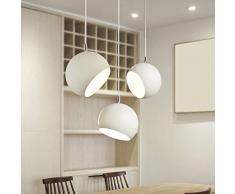 Lampade moderne_Nordic lampadari sul comodino Personalità creativa Modern minimalista singola testa camera da letto Sala da pranzo Ristorante bar tavolo