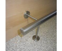 In acciaio inox bar/bancone/base asta Ø 33,7 mm (in un unico pezzo/indivisibile)