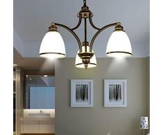 Atmosfera Romantica Semplice Lampadario Europeo Soggiorno Sala da Pranzo Sala da Pranzo Illuminazione Camera da Letto Creativa Retro Lampade in Ferro Battuto, 1 Luminoso