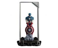 Marvel Super Hero: Captain America, personaggio da collezione, alto 17 cm, in una vetrina illuminata