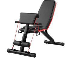 BetterShopDay - Panca da allenamento regolabile per la palestra, pieghevole, sedia romana regolabile in inclinazione, per addominali e pesi, per fitness (nero)