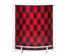 Simmob VISIO096BL922 Apitons rossi 922-Mobile Bar/bancone, in legno bianco 96,7 x 104,8 x 44,9 cm