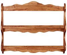 Biscottini Piattaia Country in legno massello di tiglio finitura naturale 84x12x68 cm