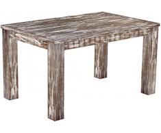 Brasil mobili tavolo da pranzo 'Rio classico' 140 x 90 cm, in legno massello di pino, tonalità Shabby antico