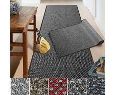 casa pura Passatoia Ponto | Tappeto corridoio | Passatoia cucina | Al metro | Combinazione con copri gradini disponibile | Nero, 80x200 cm