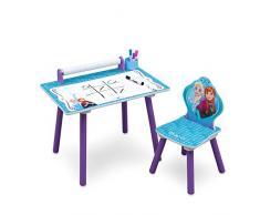 Delta Children TT89532FZ Banco attività con Rotolo Carta Disegni, Legno, Multicolore, 60x44.5x43.2 cm