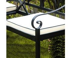 2 pezzi Cuscino per panca da giardino per esterni, Cuscino per mobili per panchina da parco, morbido e confortevole per mobili Cuscino per sedia da veranda (solo cuscini per sedili, niente panche)