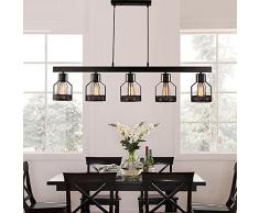 Illuminazione retrò cucina: lampadari a sospensione per cucina