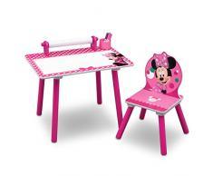 Delta Children Minnie Mouse Tavolo da Disegno, Rosa, Legno, 44.45x59.70x43.18 cm
